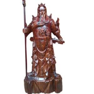 tượng gỗ quan công hinh mộc