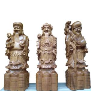 Tượng Tam Đa 50cm gỗ bách xanh