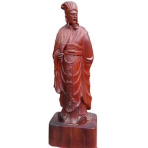 Tượng Gia Cát Lượng gỗ hương