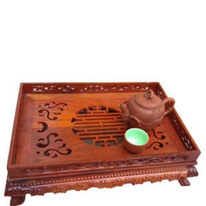 Khay trà đẹp bằng gỗ hương