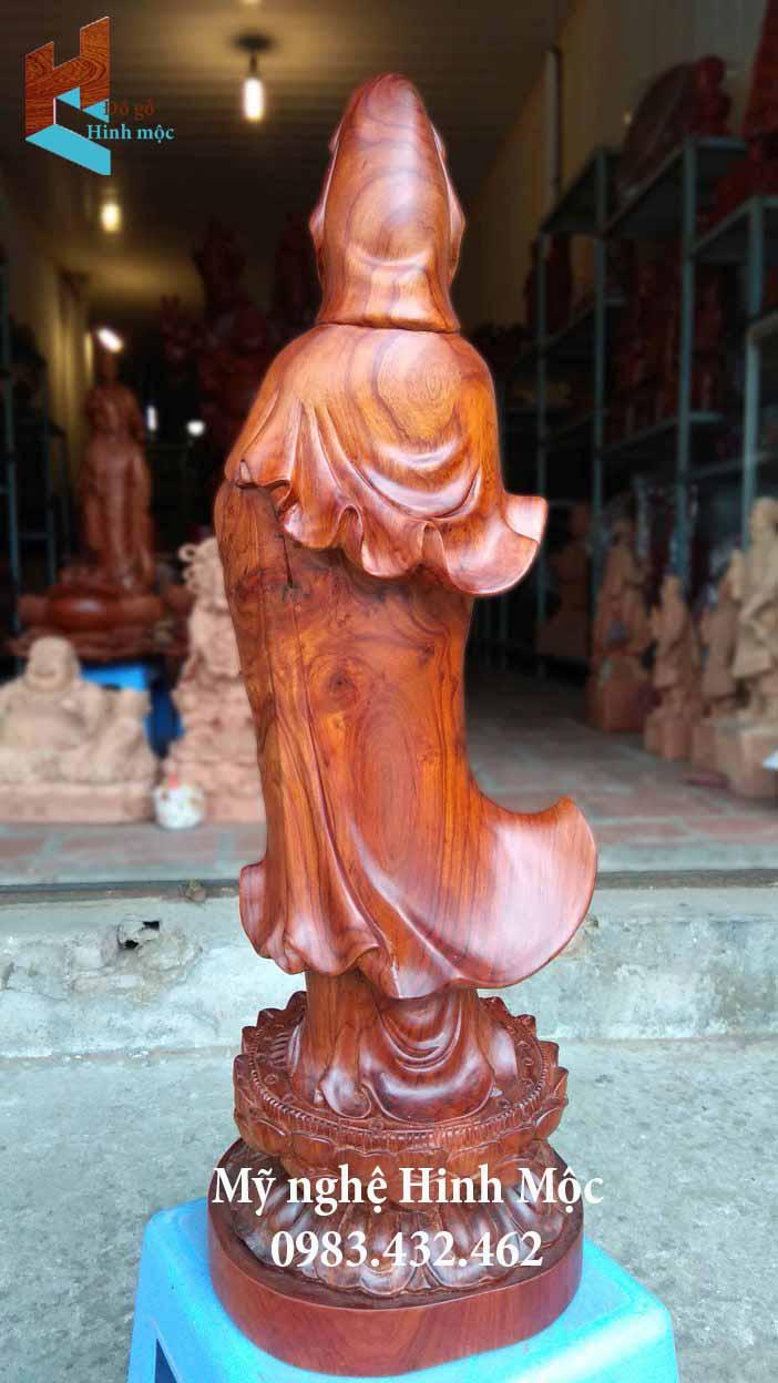 Tượng gỗ hương phật mẹ quan âm