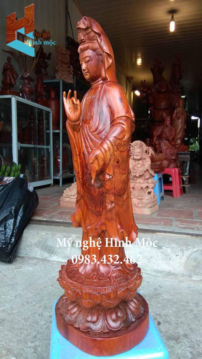 Tượng gỗ Quan Thế Âm Bồ Tát đẹp