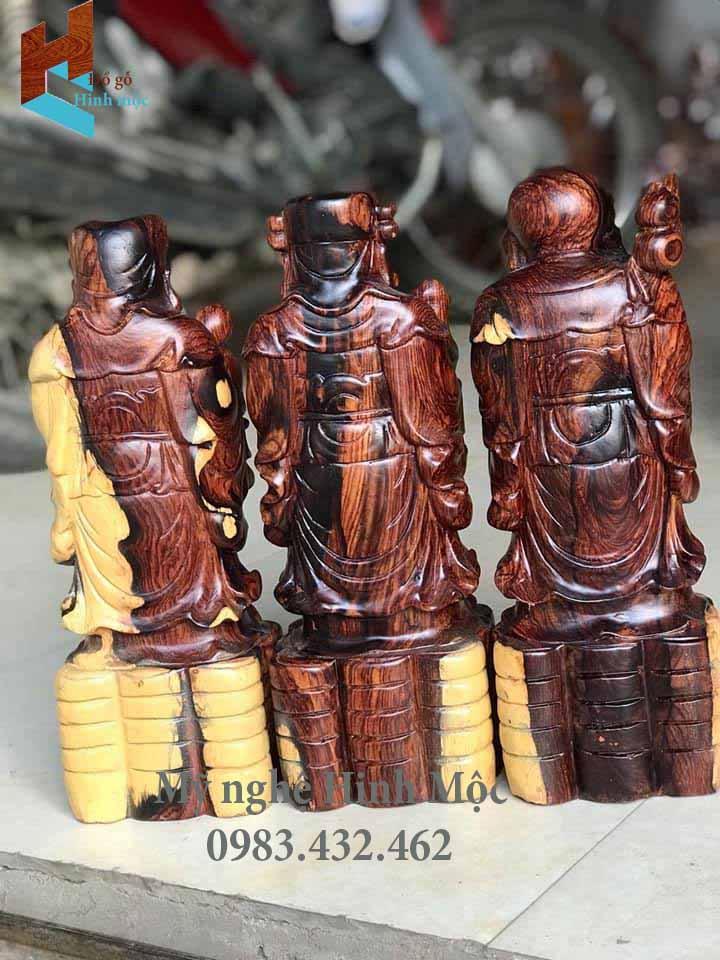 Tượng gỗ Tam Tiên Phúc Lộc thọ