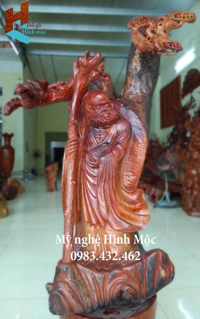 Tượng tổ Đạt Ma gỗ hương