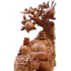 Tượng gỗ Di Lặc ngồi gốc đào