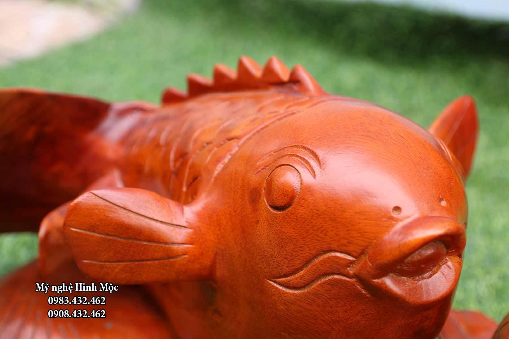 tượng cá chép mẫu tử