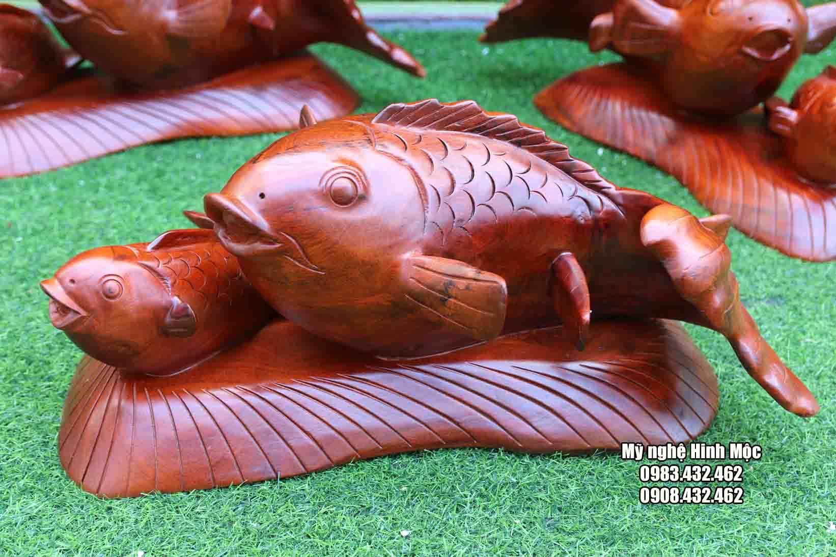cá chép gỗ xà cừ