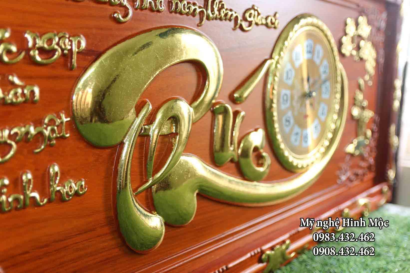 ĐH chữ Phúc gỗ hương