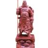 Tượng Quan Công chống đao bằng gỗ 2021