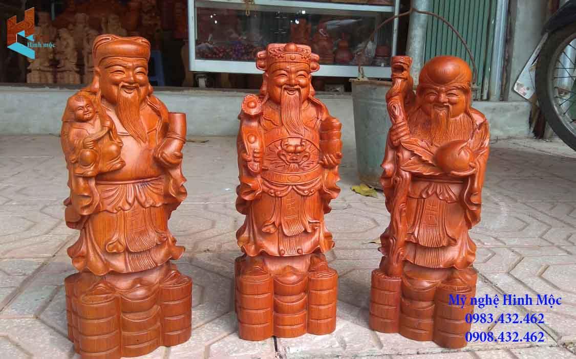 Tượng Tam Đa 30cm gỗ hương