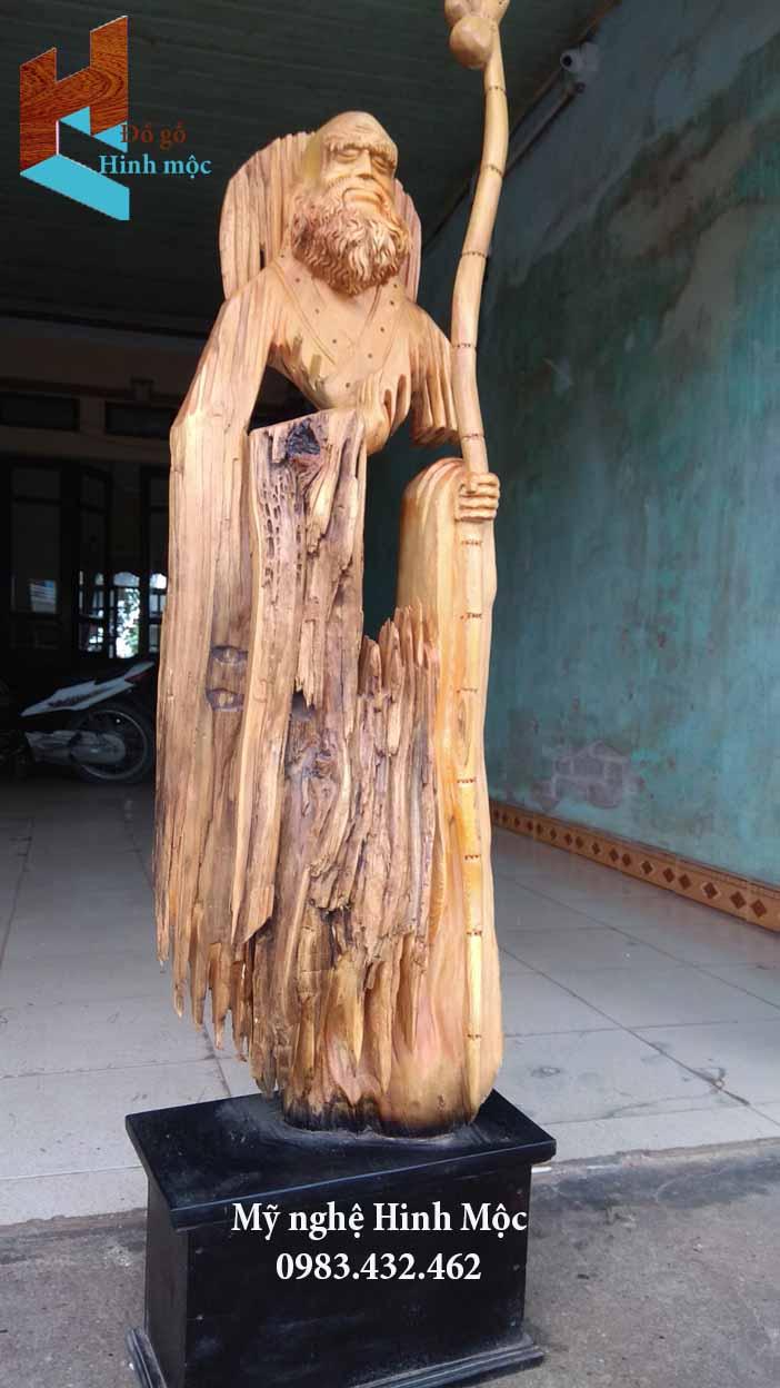 Tượng gỗ Đạt Ma tâm rỗng thiền định
