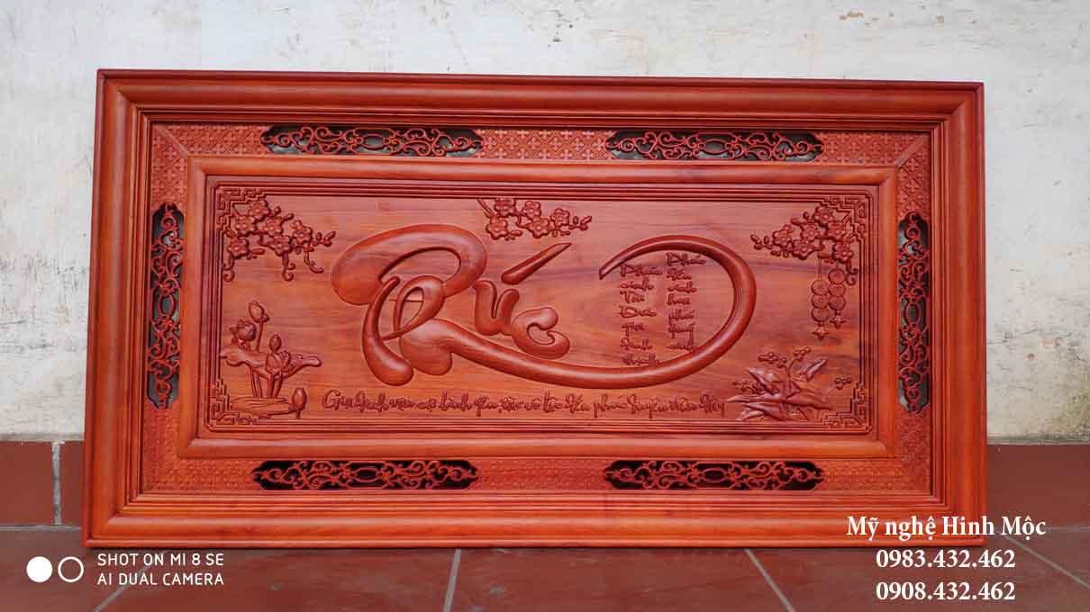 Tranh gỗ chữ Phúc sơn PU