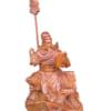 Tượng gỗ Quan Công ngồi đọc sách 40cm