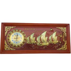 Tranh gỗ đồng hồ thuận buồm xuôi gió