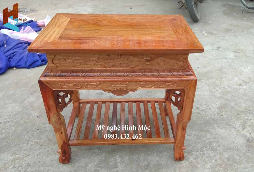 Đôn gỗ hương 60cm