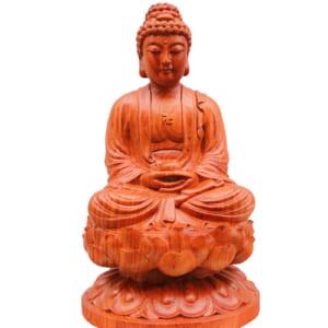 Tượng Phật A Di Đà ngồi đài sen cao 40cm