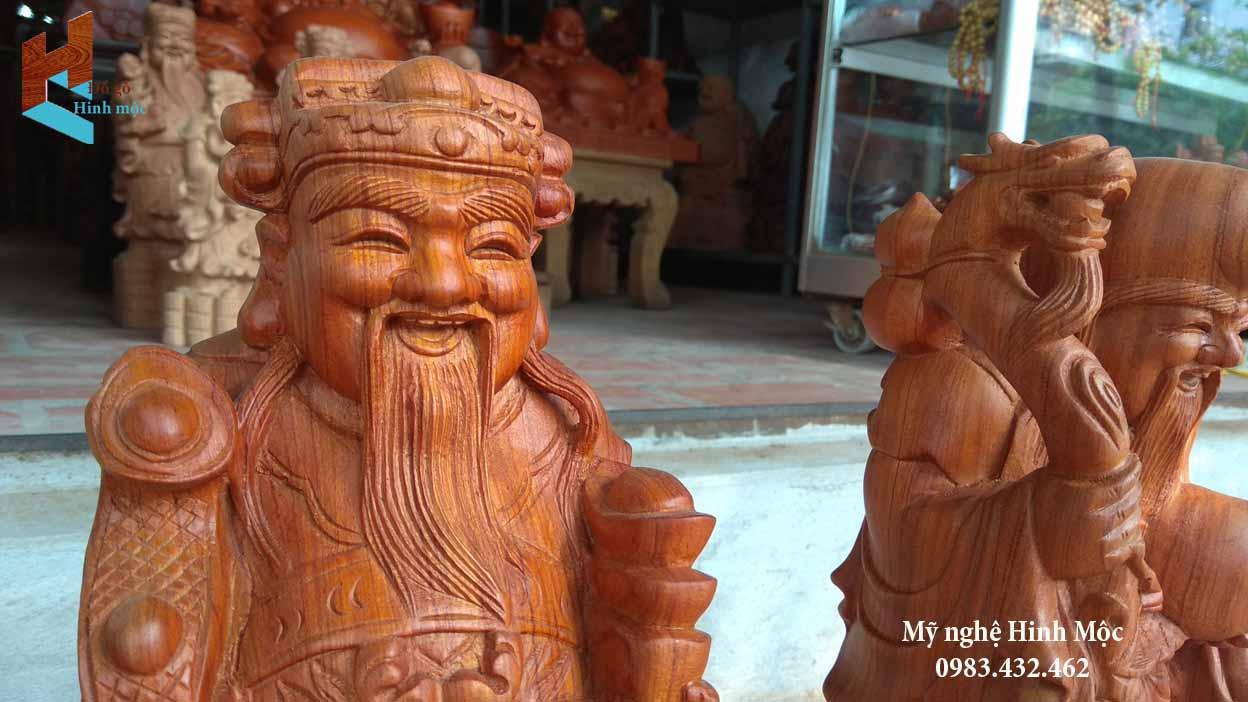 Tượng gỗ Tam Đa 50cm gỗ hương