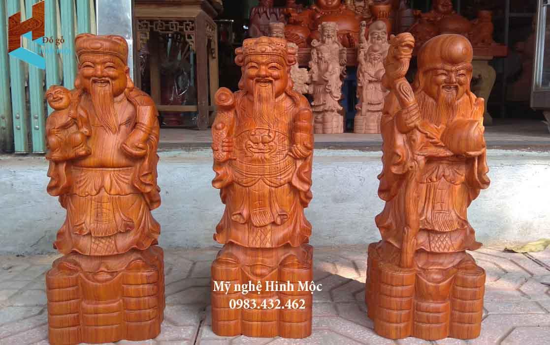 Tượng Tam Đa 50cm gỗ hương