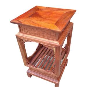 Ghế đôn vuông gỗ hương
