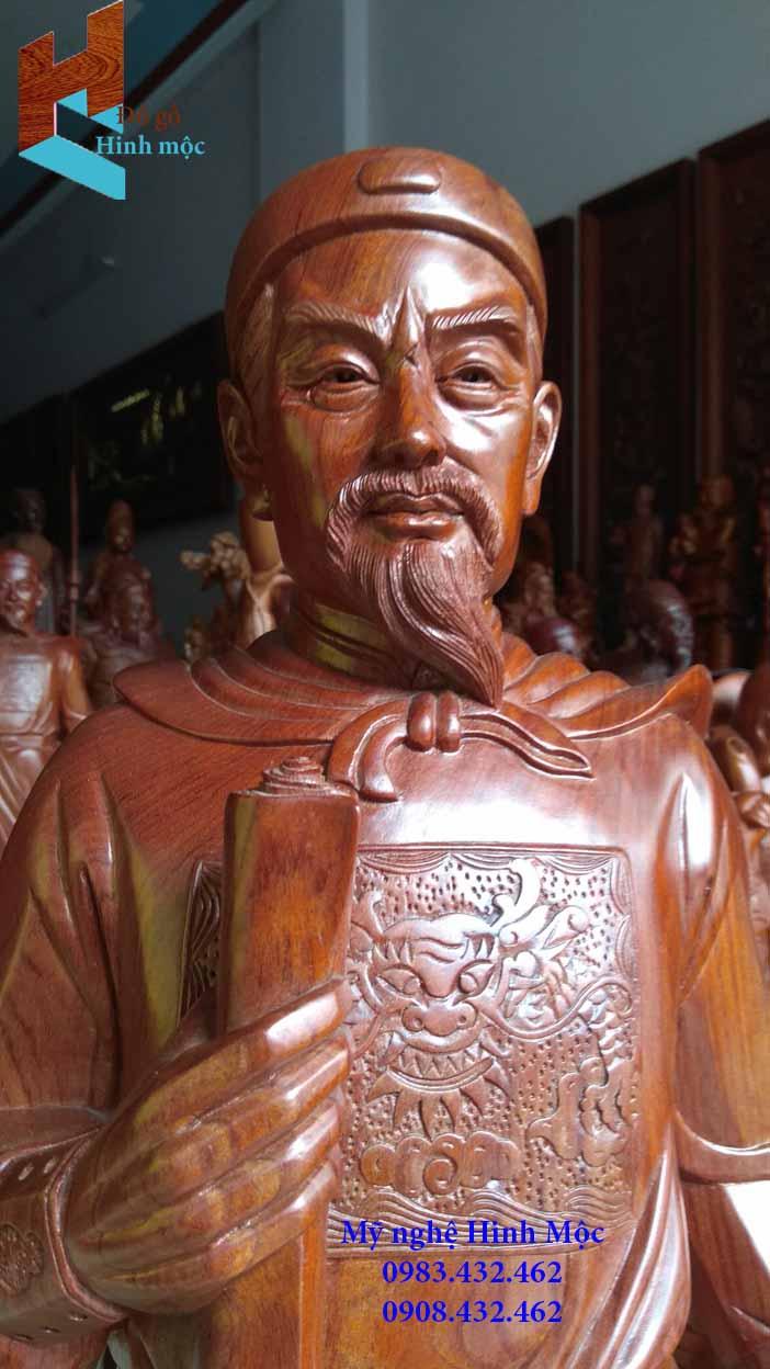 Tượng gỗ Trần Hưng Đạo cao cấp