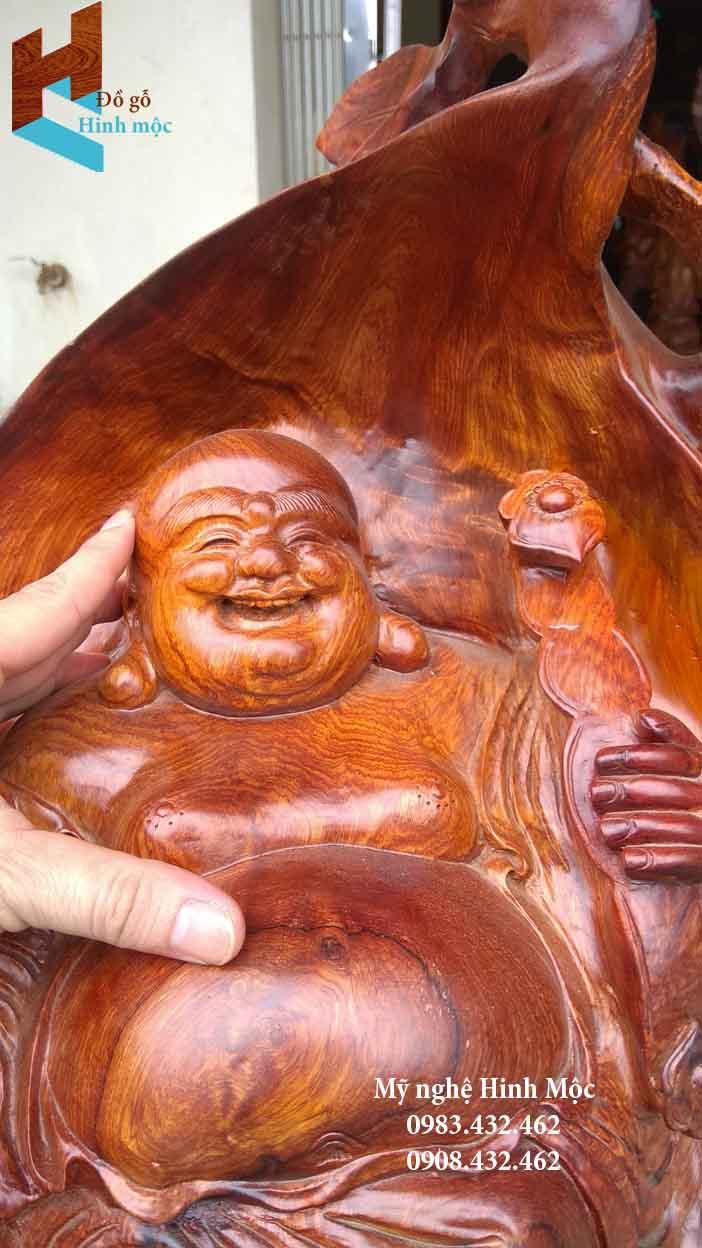 Tượng gỗ di lặc để bàn