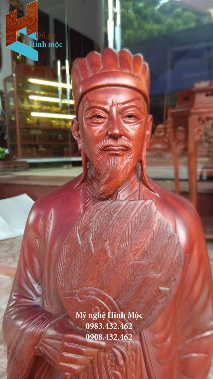 Tượng gỗ đẹp Khổng Minh