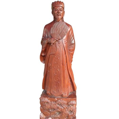 Tượng gỗ Khổng Minh đẹp