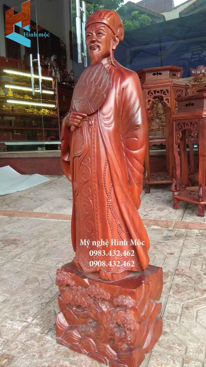 Tượng Khổng Minh Gia Cát Lượng gỗ hương