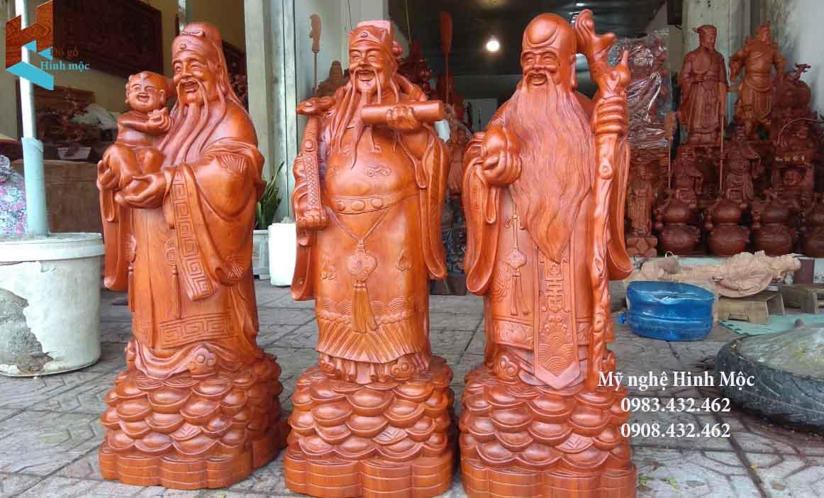 Tượng Tam Đa đẹp gỗ hương