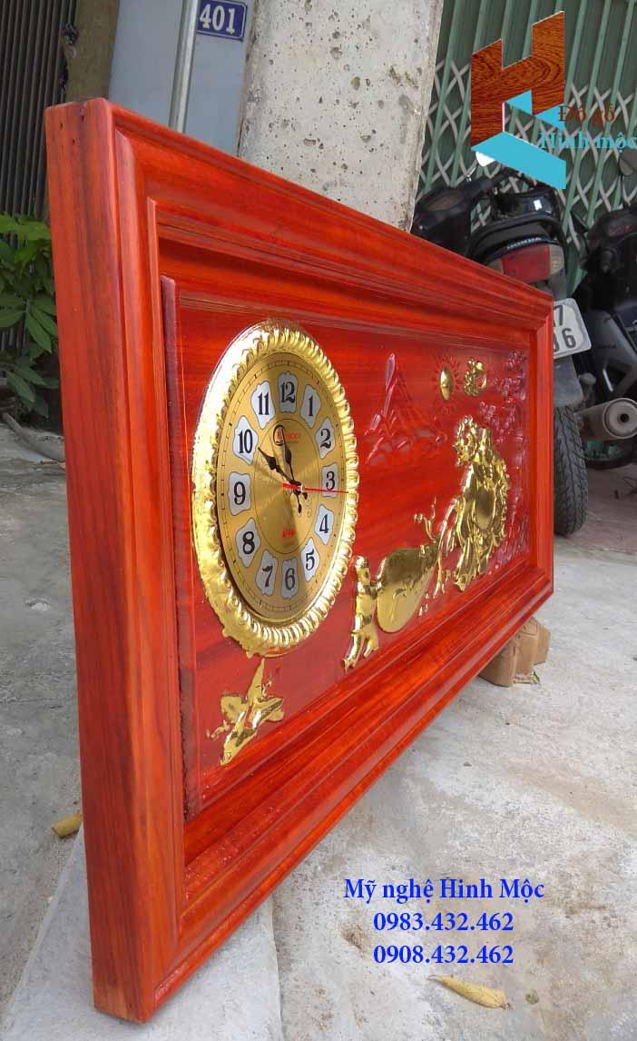 Đồng hồ tranh gỗ Di Lặc kéo bao