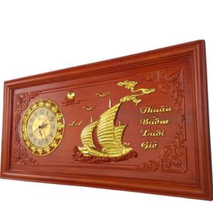 Đồng hồ gỗ treo tường Thuận Buồm Xuôi Gió