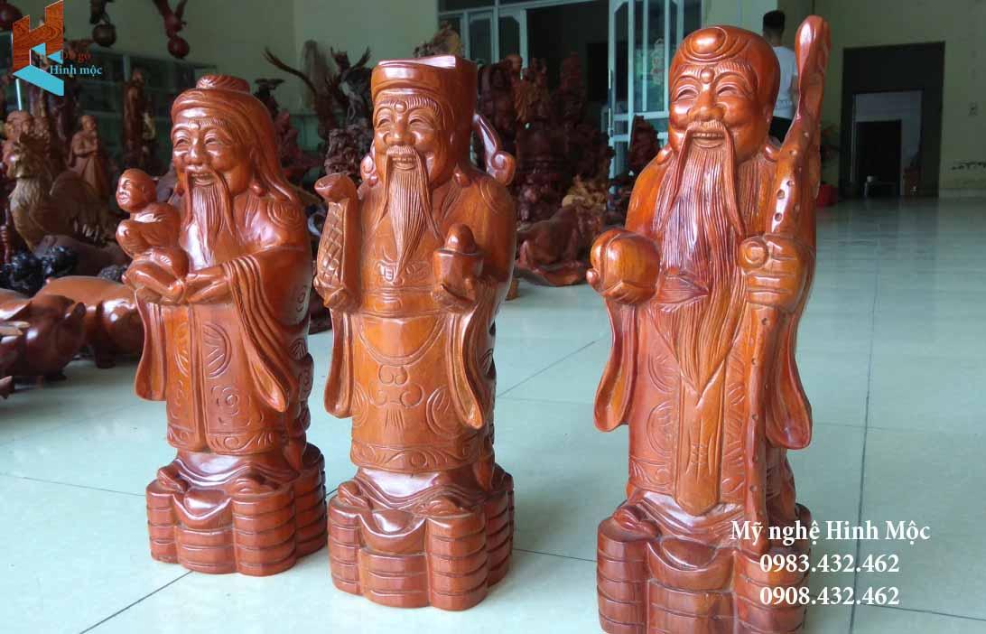 Tượng gỗ Phúc Lộc Thọ rẻ