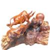 Tượng gỗ con bò tót