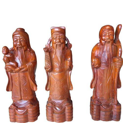 Tượng Tam Đa giá rẻ bằng gỗ xà cừ