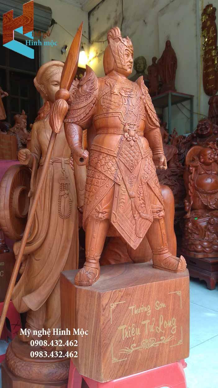 Triệu Vân bằng gỗ hương
