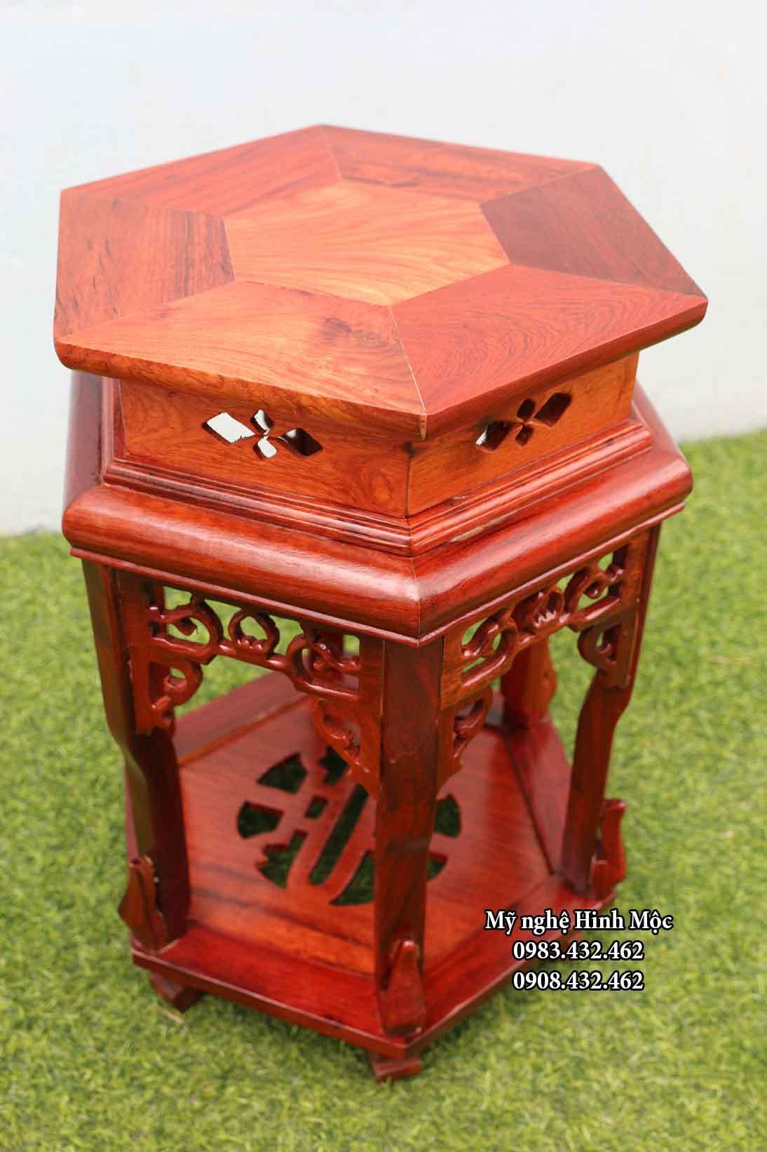 ghế gỗ hương 50cm