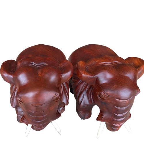 Cặp voi bằng gỗ hương