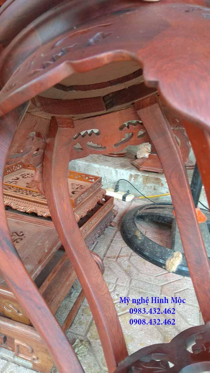 Đôi đôn lá trầu gỗ hương 80cm