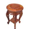 Kệ đôn tròn gỗ hương