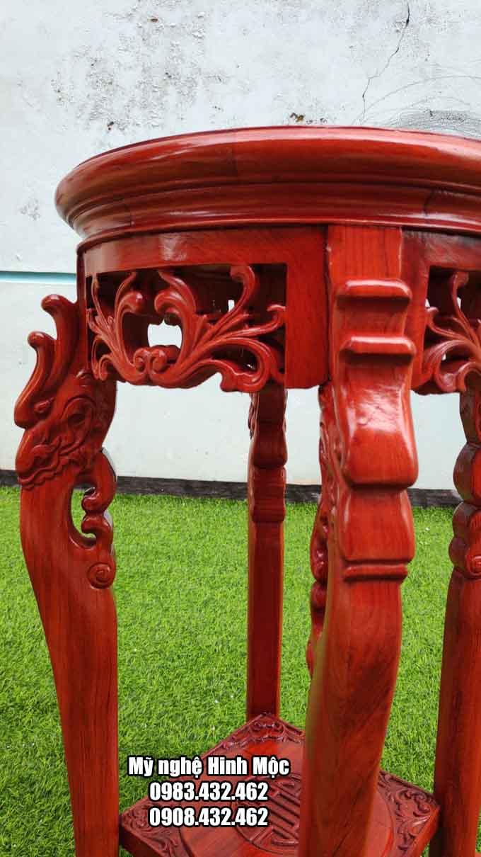 Đôn chân rồng gỗ hương đá