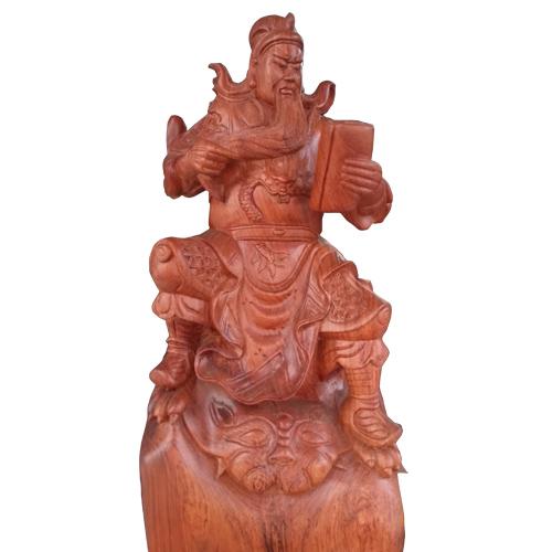 Tượng Quan Thánh đọc sách gỗ hương