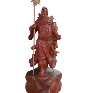 Tượng Quan Vũ đứng cầm đao 60cm