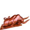 Tượng bò tót gỗ hương