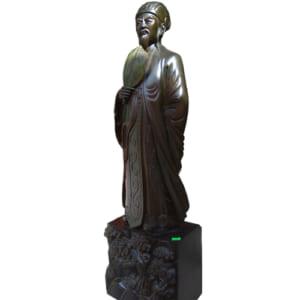 Tượng Khổng Minh gỗ mun 80cm