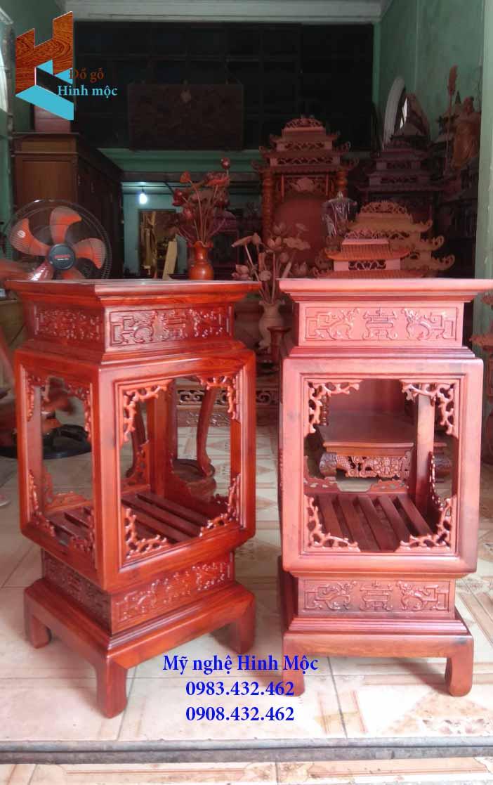 Đôn đèn bằng gỗ hương cao 80cm