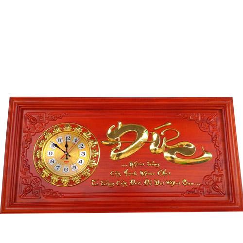Đồng hồ gỗ thư pháp chữ Đức