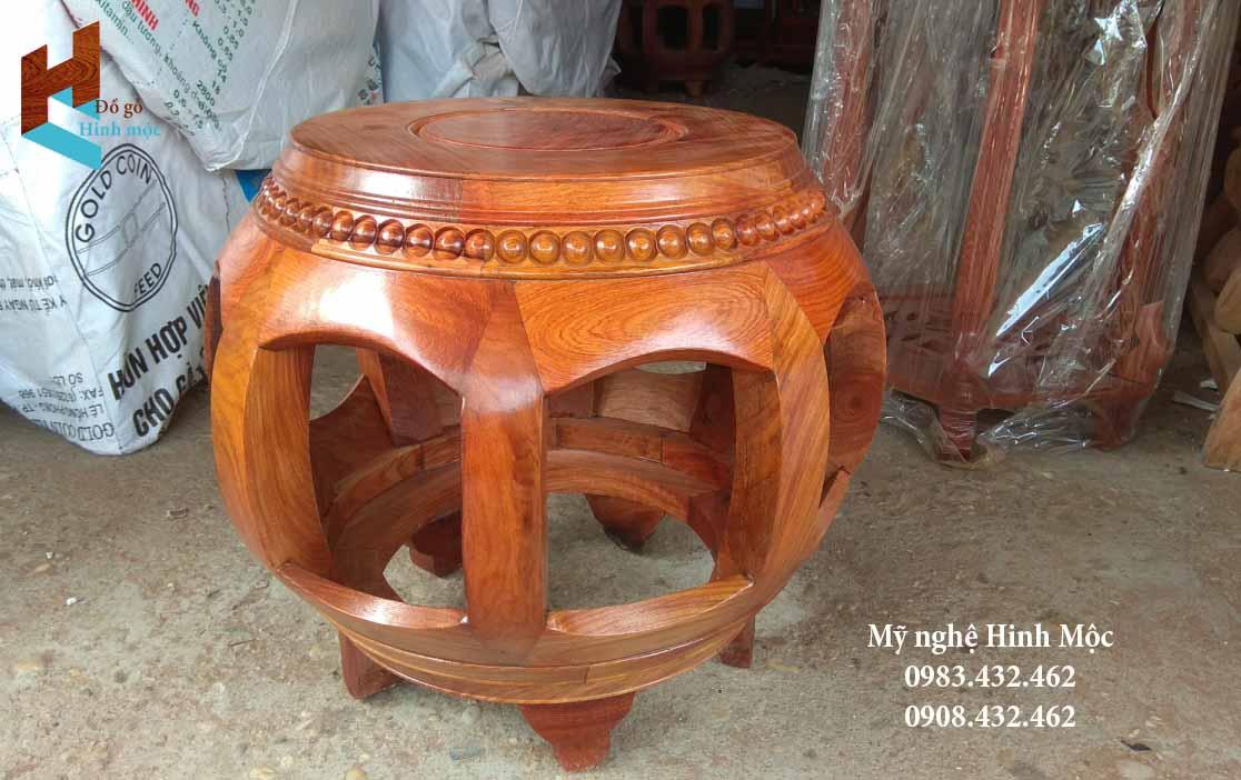Đôn gỗ mặt tròn đẹp