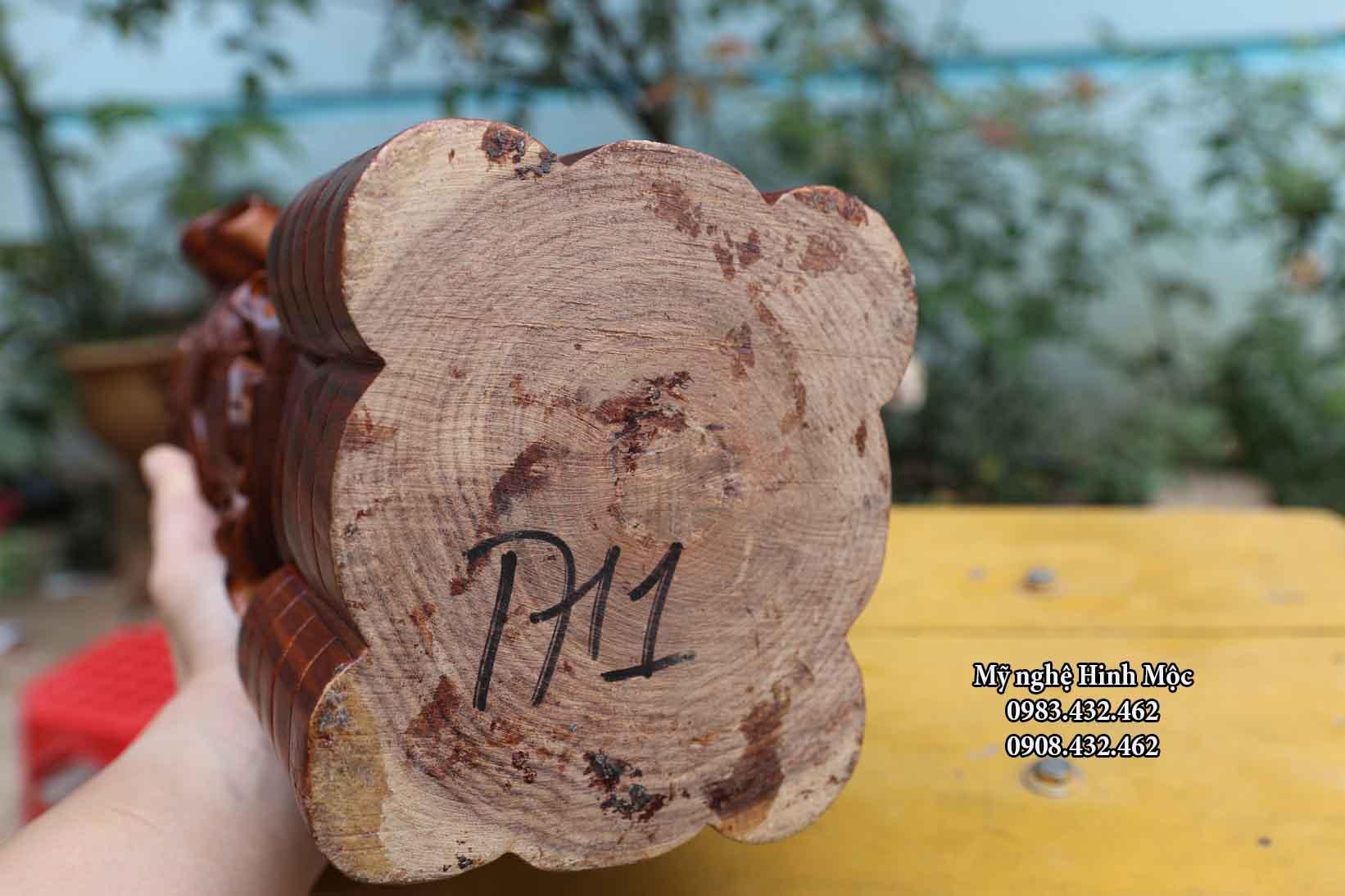 Tượng Phúc Lộc Thọ gỗ trắc dây