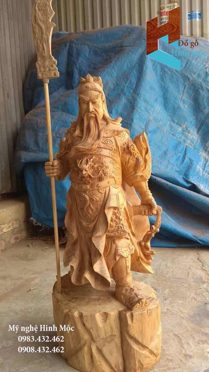Tượng Quan Vân Trường bằng gỗ Ngọc Am