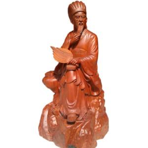 Tượng Khổng Minh ngồi đọc sách